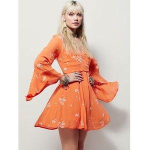 Free People Jasmine Embroidered Mini Dress